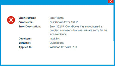 quickbooks error 15215