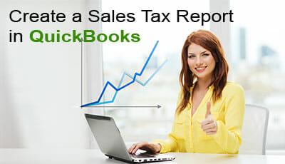 create a sales tax report in quickbooks