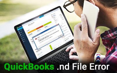 Fix QuickBooks .nd File Error